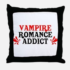 Vampire Romance Addict Throw Pillow