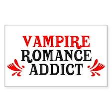 Vampire Romance Addict Rectangle Decal