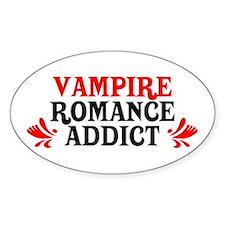 Vampire Romance Addict Oval Decal