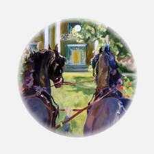 Friesian Pair turning for home - Ornament (Round)