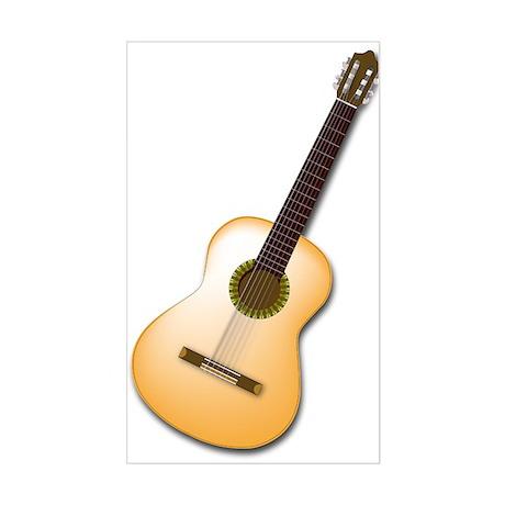 Acoustic / Spanish Guitar Rectangle Sticker