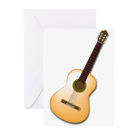 Acoustic / Spanish Guitar Greeting Cards (Pk of 20