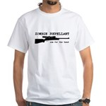 Zombie Repellant Rifle White T-Shirt