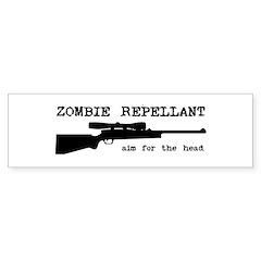 Zombie Repellant Rifle Bumper Sticker (10 pk)