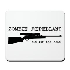 Zombie Repellant Rifle Mousepad
