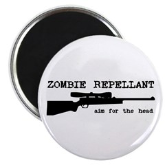 Zombie Repellant Rifle Magnet