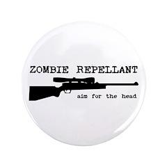 """Zombie Repellant Rifle 3.5"""" Button"""
