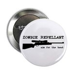 """Zombie Repellant Rifle 2.25"""" Button (100 pack"""