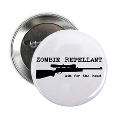 "Zombie Repellant Rifle 2.25"" Button (100 pack"