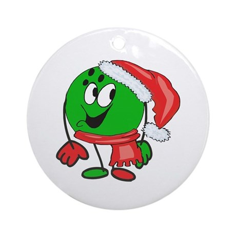 Bowling Ball Christmas Ornament (Round)