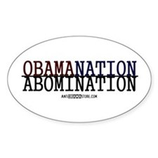 OBAMANATION Oval Decal