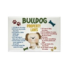 Bulldog Property Laws 4 Rectangle Magnet