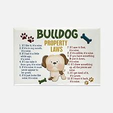 Bulldog Property Laws 4 Rectangle Magnet