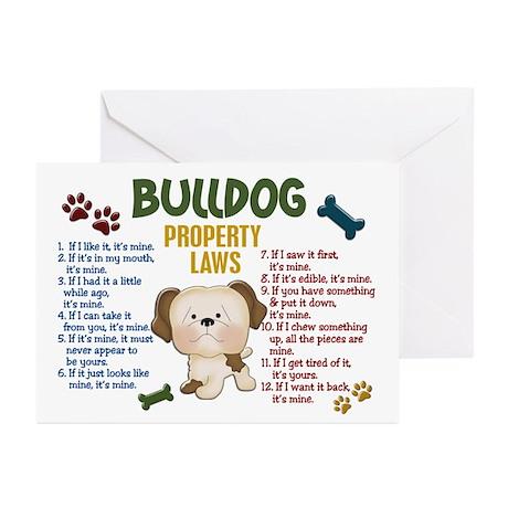 Bulldog Property Laws 4 Greeting Cards (Pk of 10)