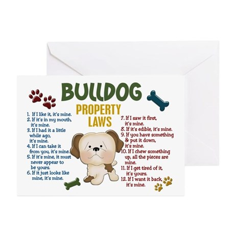 Bulldog Property Laws 4 Greeting Cards (Pk of 20)