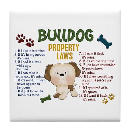 Bulldog Property Laws 4 Tile Coaster