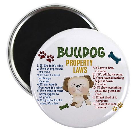 "Bulldog Property Laws 4 2.25"" Magnet (10 pack)"