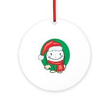 Golf Ball Christmas Ornament (Round)