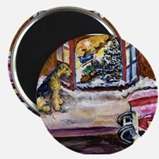 Airedale Terrier Christmas Magnet