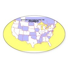 CCC Map Oval Decal