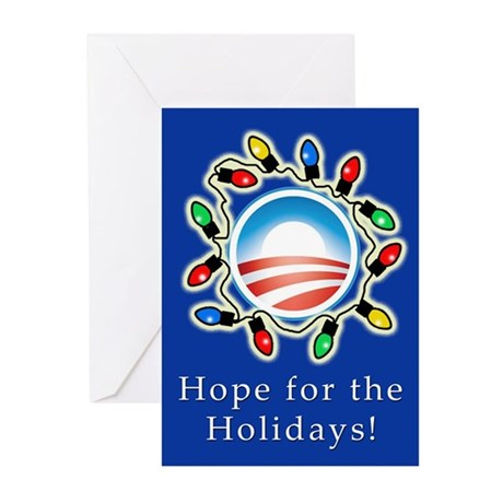 Obama Hope for the Holidays Cards Pk of 10