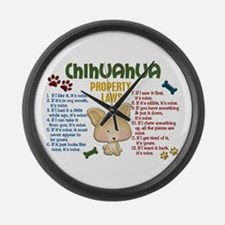 Chihuahua Property Laws 4 Large Wall Clock