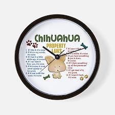 Chihuahua Property Laws 4 Wall Clock