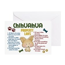 Chihuahua Property Laws 4 Greeting Card