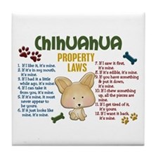 Chihuahua Property Laws 4 Tile Coaster