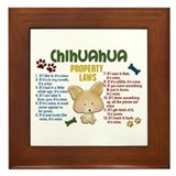 Chihuahua Framed Tiles