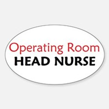 OR Head Nurse Oval Decal