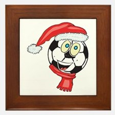 Christmas Soccer Framed Tile
