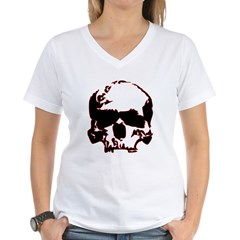 Black and Red Graphic Skull Shirt