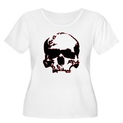Black and Red Graphic Skull T-Shirt