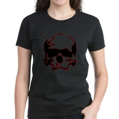 Black and Red Graphic Skull Tee