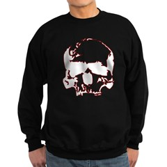 Black and Red Graphic Skull Sweatshirt (dark)