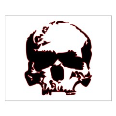 Black and Red Graphic Skull Posters