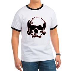 Black and Red Graphic Skull T