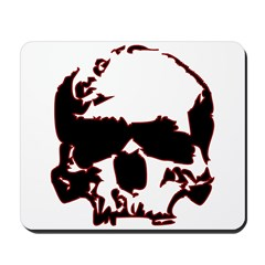 Black and Red Graphic Skull Mousepad