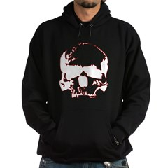 Black and Red Graphic Skull Hoodie