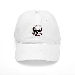 Black and Red Graphic Skull Baseball Cap