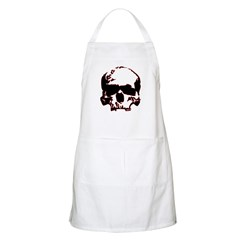 Black and Red Graphic Skull BBQ Apron