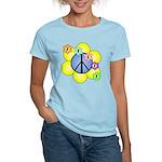 Peace Blossoms /blue Women's Light T-Shirt