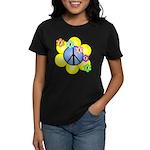 Peace Blossoms /blue Women's Dark T-Shirt