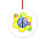 Peace Blossoms /blue Ornament (Round)