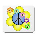 Peace Blossoms /blue Mousepad