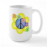 Peace Blossoms /blue Large Mug