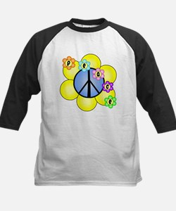 Peace Blossoms /blue Tee