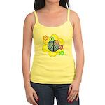Peace Blossoms /blue Jr. Spaghetti Tank