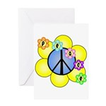 Peace Blossoms /blue Greeting Card
